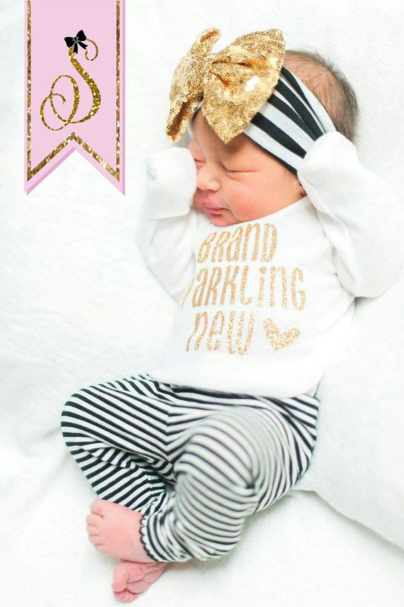 NEWBORN GIRL take home outfit, newborn girl headband, baby