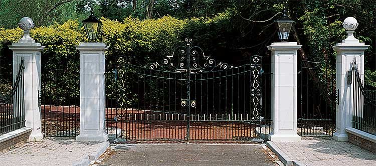 Front Entry Gate Main Gate Design Gate Design Pillar Design