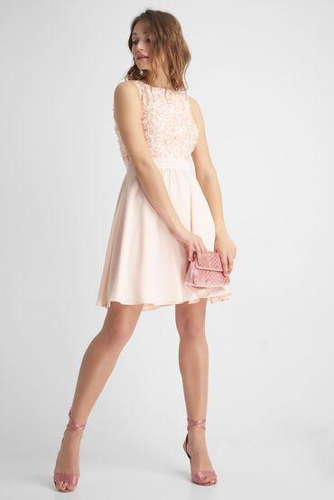 Tailliertes Kleid Mit 3d Stickerei Orange Kleider Abendkleid Modestil