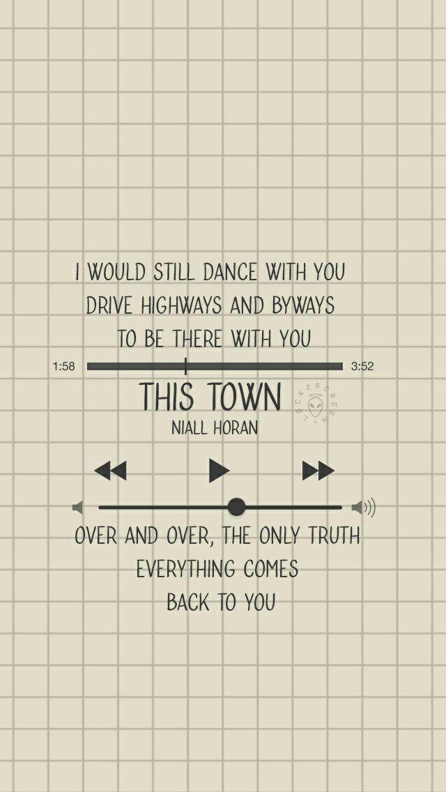 Niall Horan - This Town lyric lockscreen!