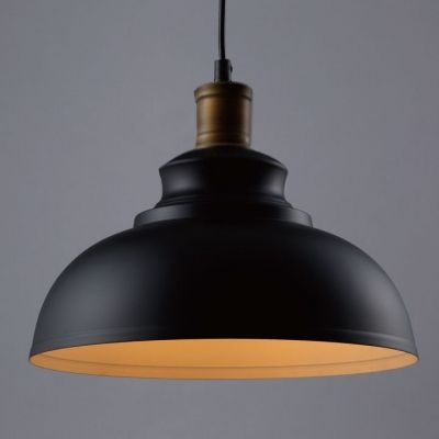 Matte Black Dome Single Pendant Light In Retro Loft Style For Kitchen Island Farmhouse Restaurant Hanging Ceiling Lights Ceiling Lamp Shades Pendant Lamp