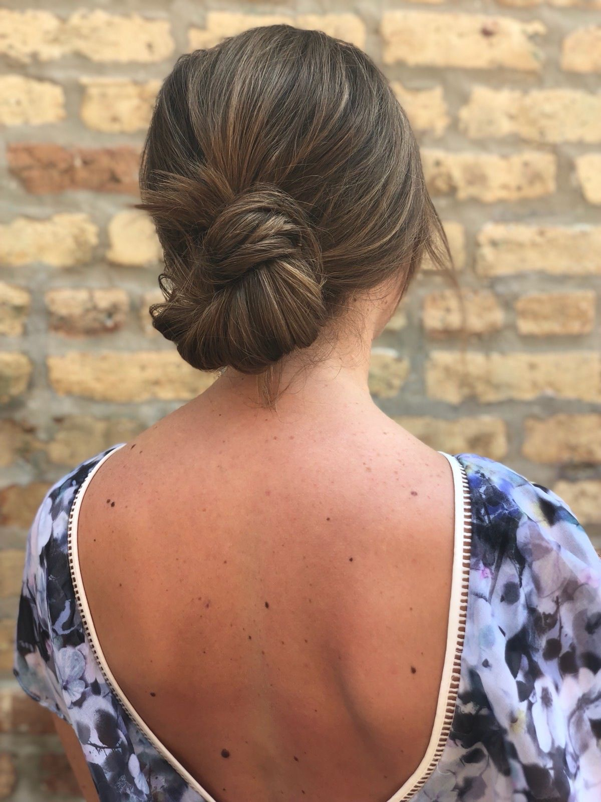 Easy is effortless everyday updo with a low knot hairstyle by