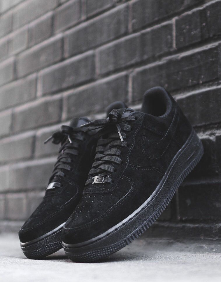 low priced 25072 9e960 Nike Airforce 1  Black Suede