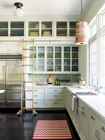 12 Best Warm Neutral Paint Colors For Your Walls // Neutral White Kitchen,  Library