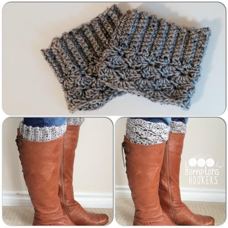 Reversible Ribbedscalloped Boot Cuffs Crochet Crochet