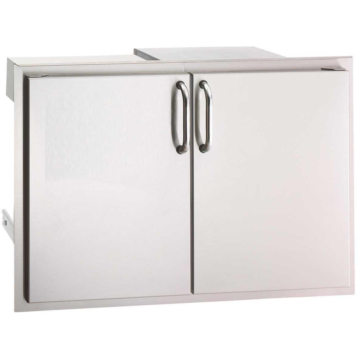 Fire Magic Select 30 Double Access Door With Drawers And Trash Bin Storage 33930s 12 Storage Bins Trash Bins Storage