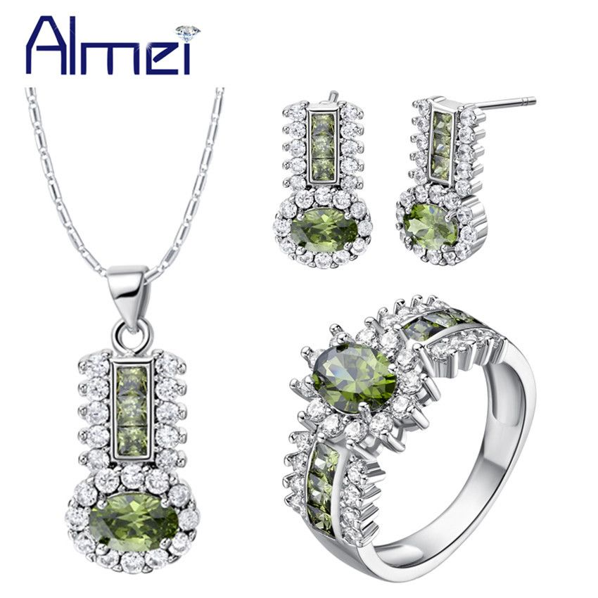 Find More Jewelry Sets Information about Almei 2016 Fashion Crystal Jewelry Set Earrings 925 Silver Rings Necklace for Women Wedding Set Jewellery Joias De Prata T554,High Quality crystal owl,China crystal jersey Suppliers, Cheap crystal candle wall sconces from ULove Fashion Jewelry Store on Aliexpress.com