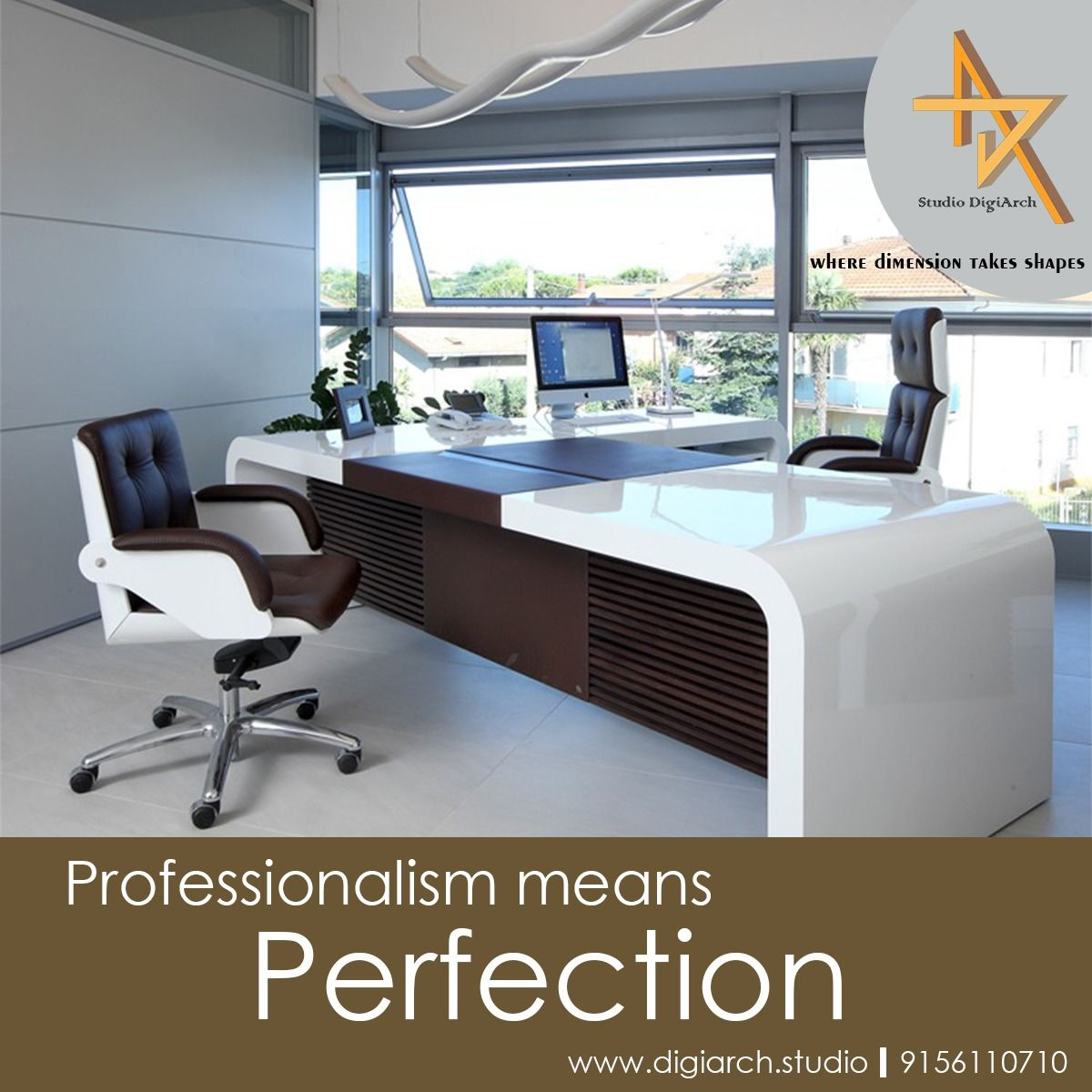 Home Officeinterior Design Ideas: 'Professionalism Means Perfection. 9156110710