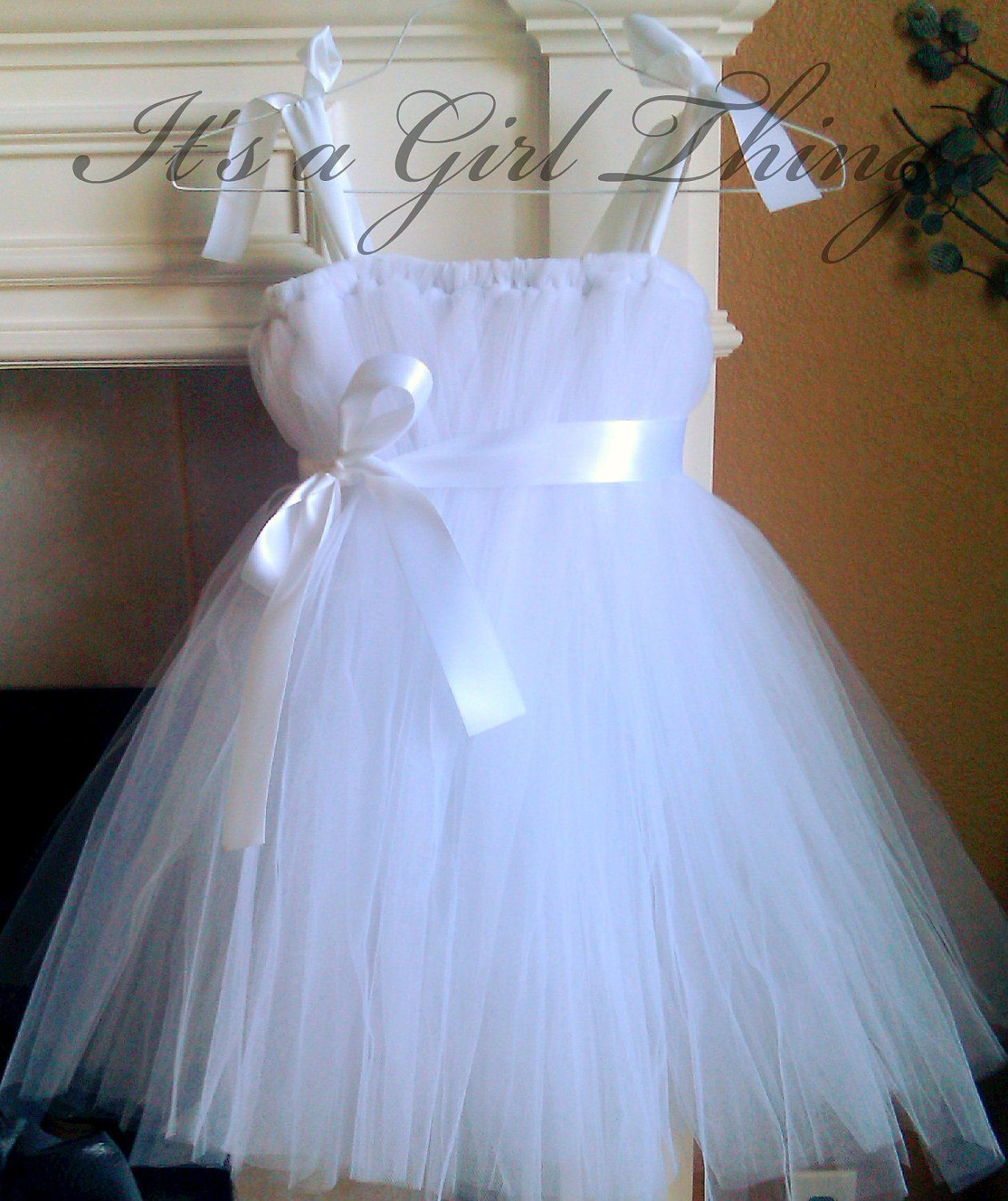 White Tutu Dress - Newborn - 24 months