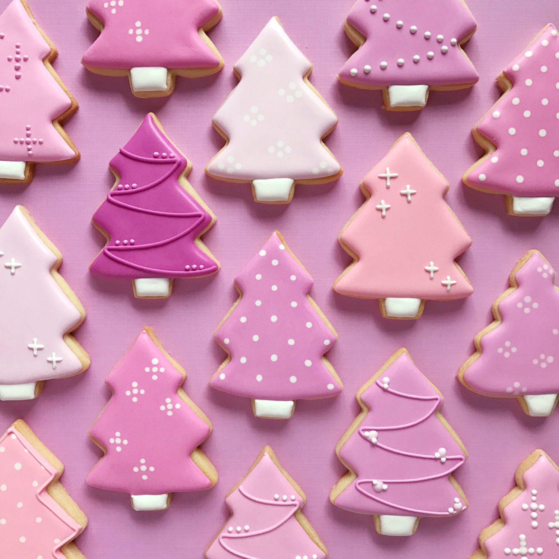 Pink Christmas Cookies Pink Prettyinpink Christmascookies
