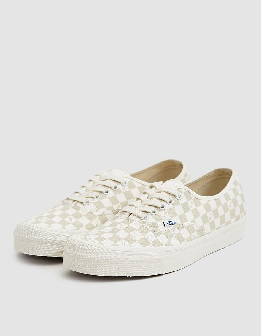 46d1712334bd3e Vault by Vans   OG Checkerboard Authentic LX Sneaker in Marshmallow ...
