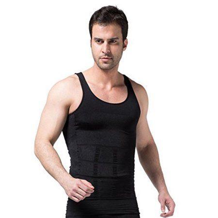 Men Fitness Chest Tummy Compression Shapers Vest Workout Cinchers Slim Tank Top