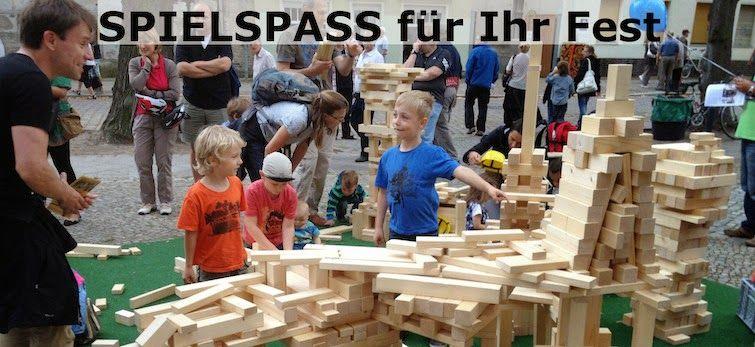 Holzbausteine leihen für Ihr Fest: Holzbausteine leihen für Ihr Stadtfest