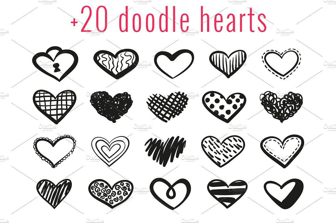 Heart doodle. St valentine s day
