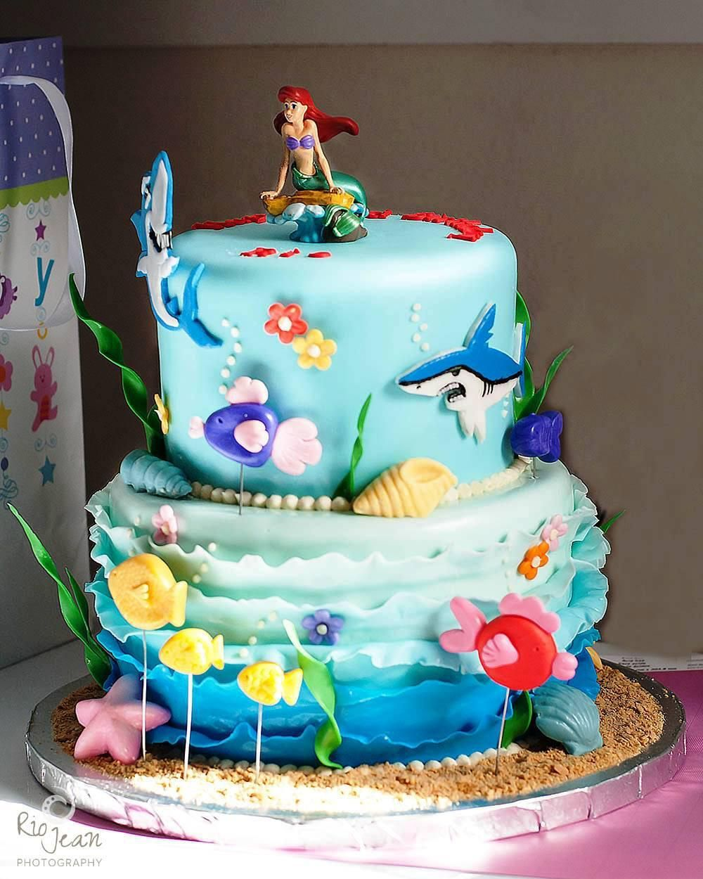 23 Inspired Picture Of Ariel Birthday Cakes Little Mermaid