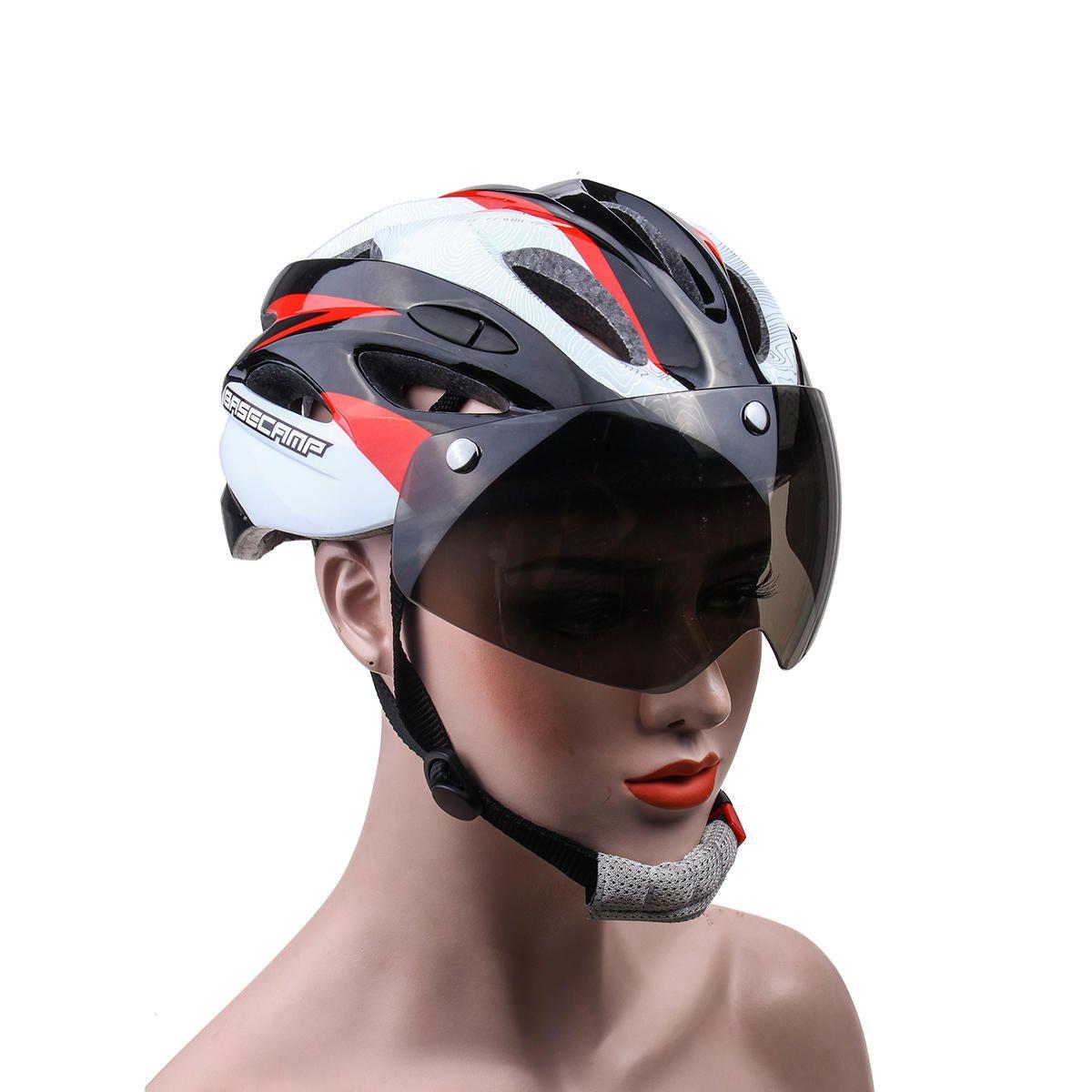 Basecamp Goggles Visor Bicycle Helmet Road Cycling Mountain Bike