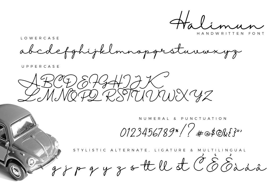 Halimun Script Style Creative Font | Poster Design