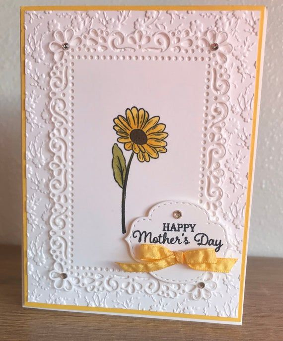 Stampin Up Card Birthday Card Thinking Of You Card Handmade Card Greeting Card Spring Card Blank Card Handmade Cards Stampin Up Cards Handmade Stamping Up Cards