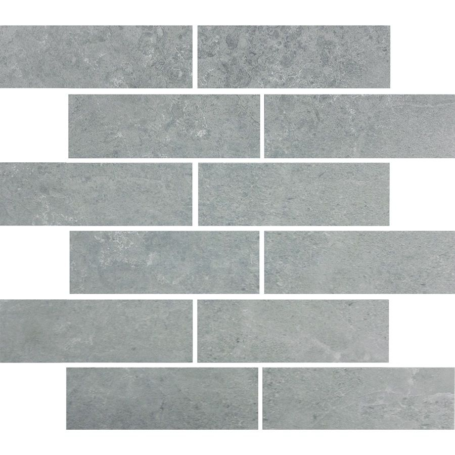 Skyros gray glazed porcelain mosaic subway indoor outdoor floor tile common 12 in x 15 in - Lowes floor tiles porcelain ...