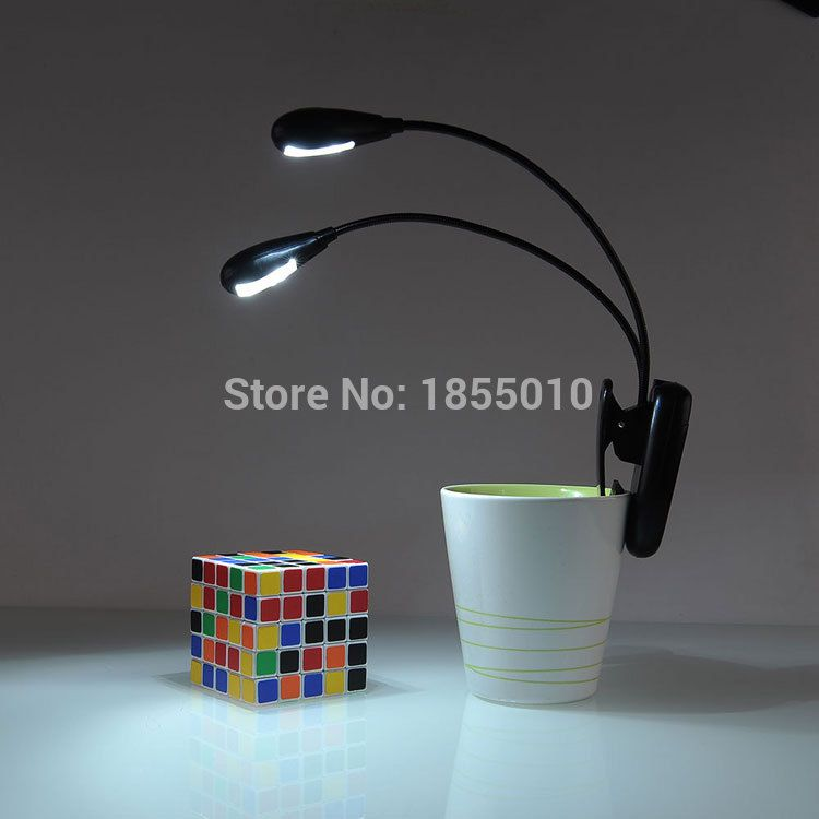 Led Reading Lamp Dual Arms 2 Leds Flexible Book Sheet Music Stand Light Reading Light Student Dormitory Lights With Clip Reading Lamp Lights Music Stand Lights
