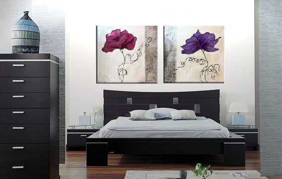 cuadros dormitorio modernos cuadro flores rosas modernos fucsias dormitorios salones tienda imagens cuadros