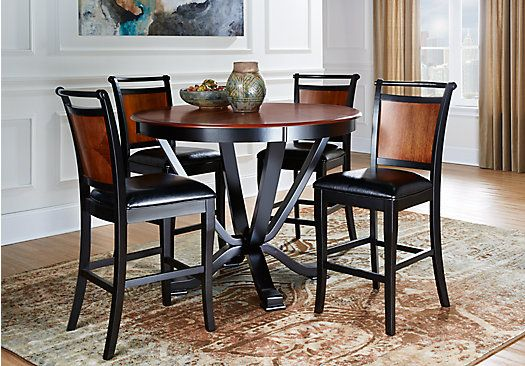 Orland Park Black 5 Pc Counter Height Dining Set With Black