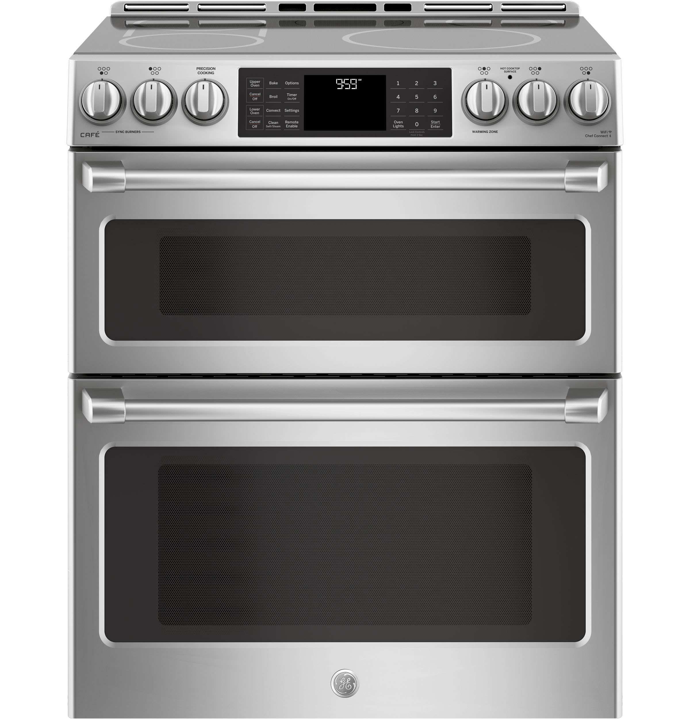 Lowest Price On Ge Chs995selss Cafe 30 Stainless Steel Slide In Induction Double Oven Range Convection Today