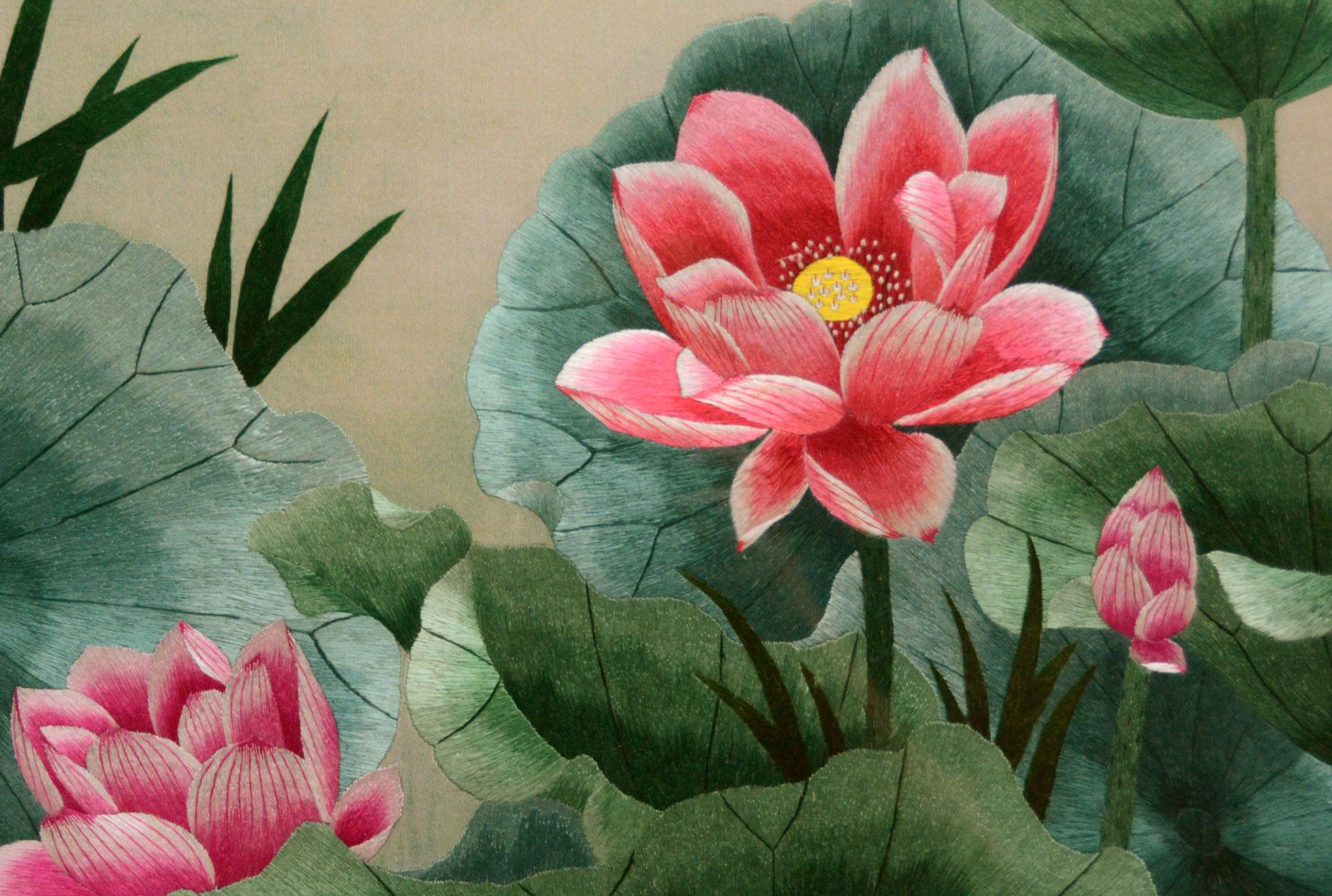 Lotus flowers silk embroidery ilk embroidery is a chinese art form lotus flowers silk embroidery ilk embroidery is a chinese art form with origins dating back izmirmasajfo