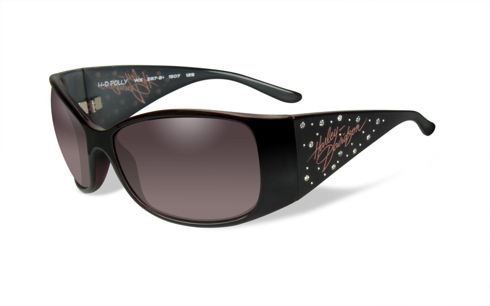 f8209529beb7 Harley-Davidson® Wiley-X G Polly Black Sun-glasses Pink Fade Lens +Case -  House of Harley-Davidson