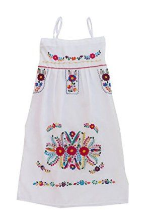 2679fe223828a Mexican Clothing Co Womens Mexican Dress Traditional Strap-Strapless  Sundress P CT at Amazon Women s Clothing store