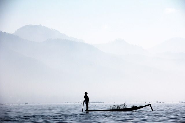 Free Image on Pixabay - Fisherman, Single Leg Fischer