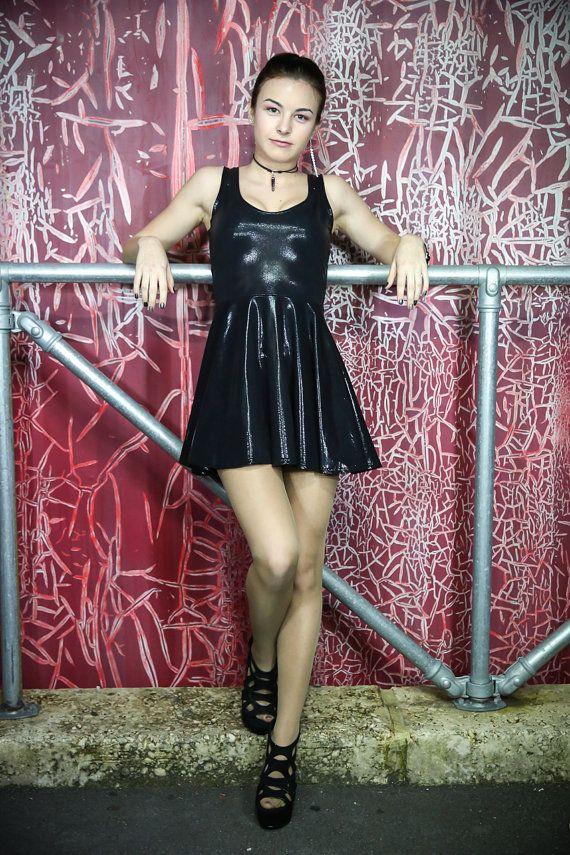 Fairy Dust Licorice Skater Dress by akuma2636 on Etsy