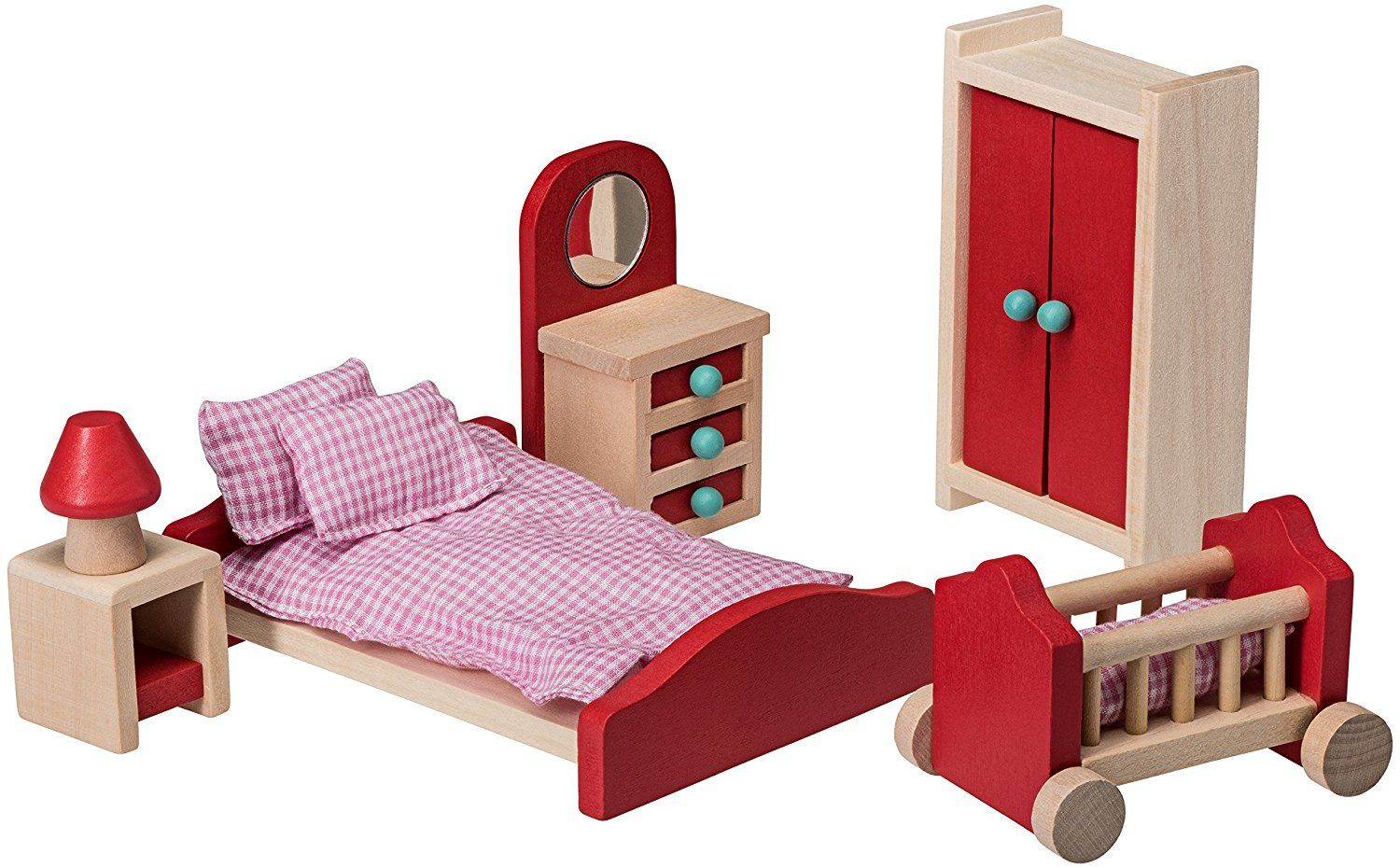 Amazon Com Wooden Bedroom Set Doll House Furniture By Dragon Drew