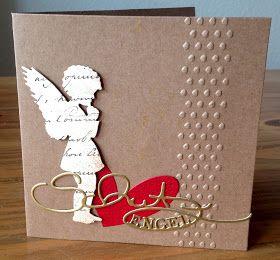 weihnachtskarten mit engel stanzen alexandra renke. Black Bedroom Furniture Sets. Home Design Ideas