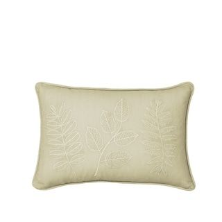 Beautyrest Laurel Embroidered Decorative Pillow Beige Simmons