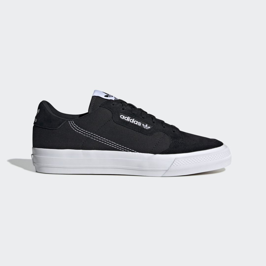 Continental Vulc Shoes in 2020 | Black shoes, Black adidas ...
