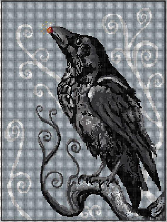 Photo of A Raven Treasure Cross Stitch Chart