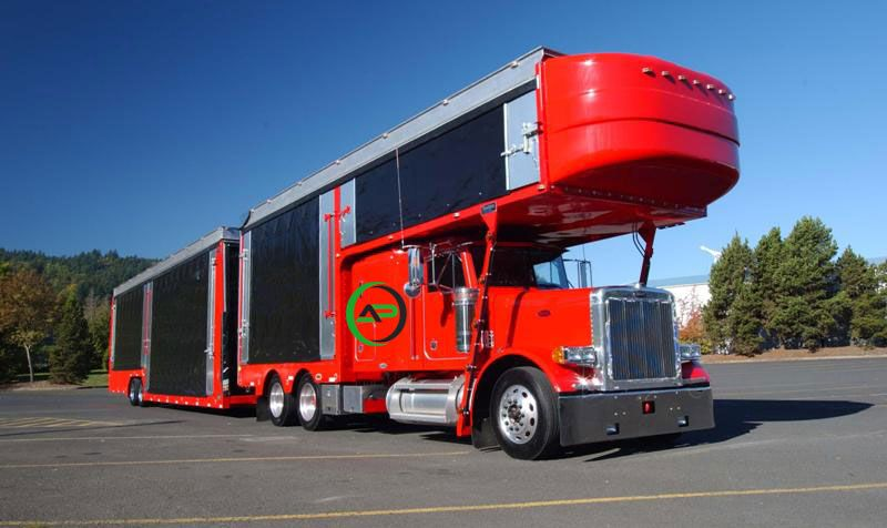 An enclosed auto carrier is ideal for shipping vehicles