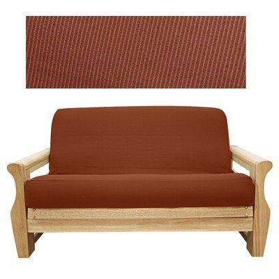 Elegant Ribbed Brick Futon Cover Size Queen By Easy Fit 72 44