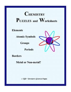 Chemistry Puzzles And Worksheets Pack 1 With Images Chemistry