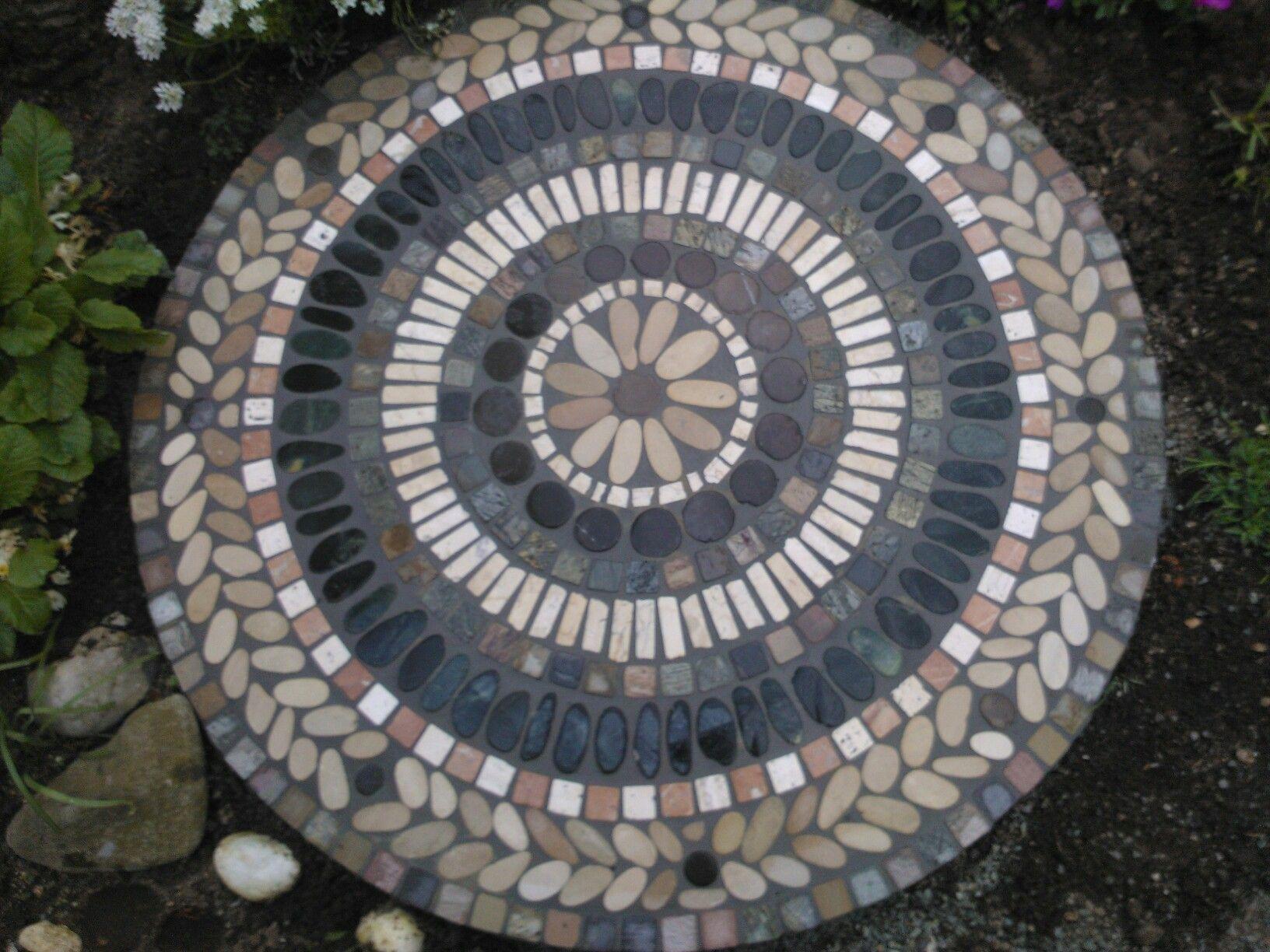 Mosaik Schachtabdeckung