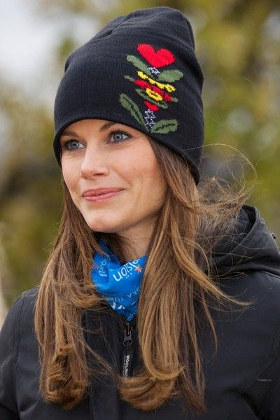 Princess Sofia of Sweden visits the Idre Sami Village during the second day of a two day trip to Dalarna on October 6, 2015 in Grovelsjoen, Sweden.