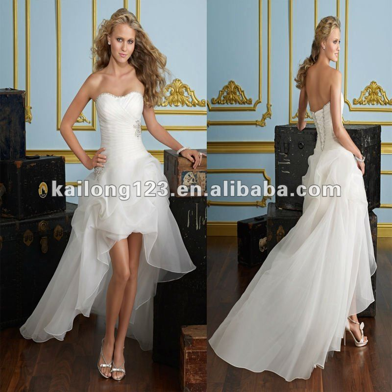 Cheap Bead Wedding Dress Buy Quality Beaded Strap Directly From China Bridesmaid Dresses Suppliers Sweetheart A Line Floor Length Front Short