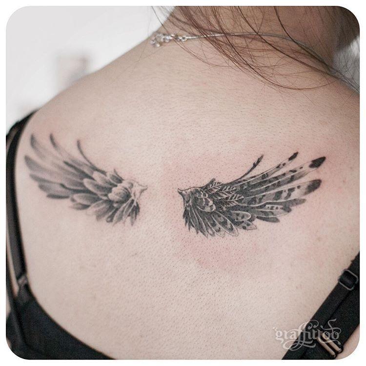 wings :-) - #타투 #그라피투 #tattoo #graffittoo #타투이스트리버