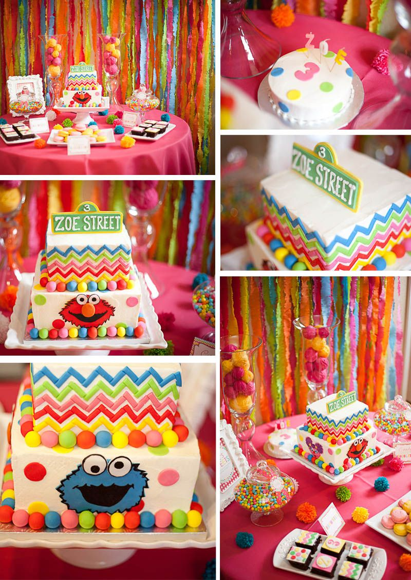 sesame street inspired birthday party ideas in 2018 | sesame street