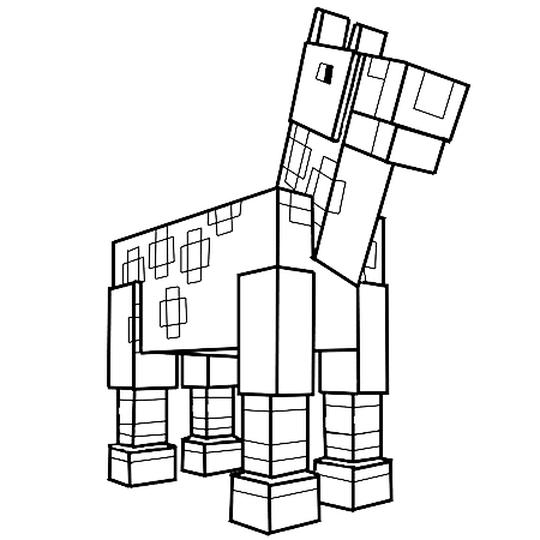 Le Cheval De Minecraft Coloriage Pixel A Imprimer Coloriage