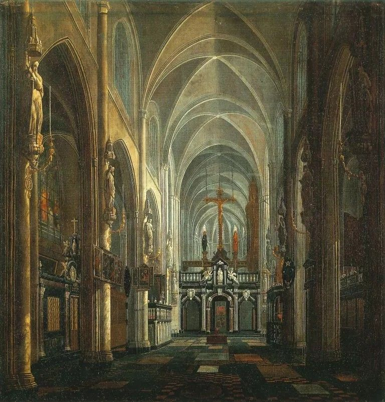 Jan Baptist Van Meunincxhove Interior Of The St Donaas Church In