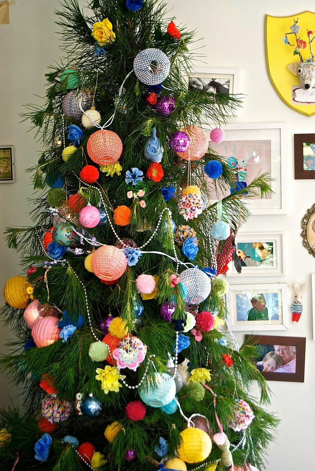 Greedy For Colour Our Happy Messy Christmas Tree Christmas Tree Outdoor Christmas Tree Decorations Christmas Tree Star Topper