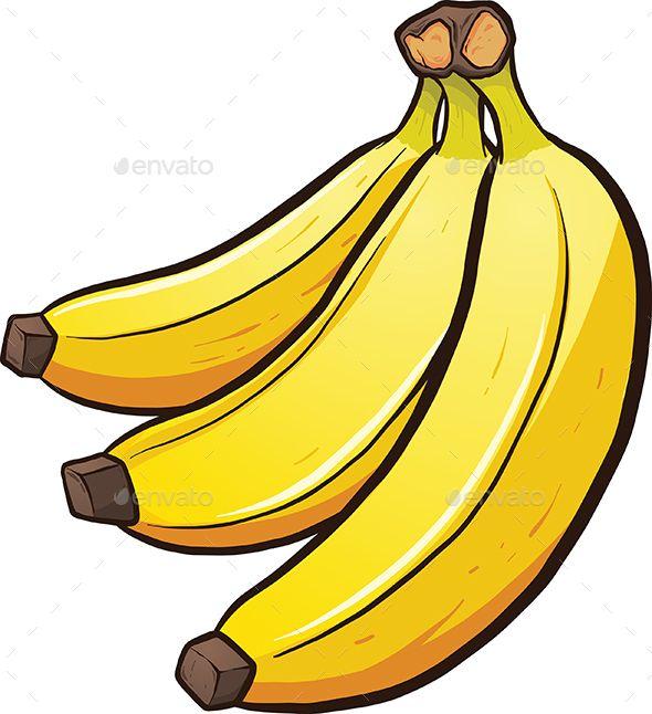 Cartoon Bananas Cartoon Banana Banana Art Fruits Drawing