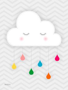 nuvem com gotas coloridas quadros pinterest quadros nuvem e chuva